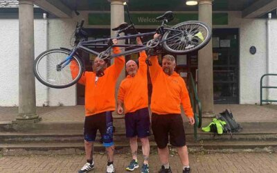 ETS sponsor Three Peaks Tandem Challenge